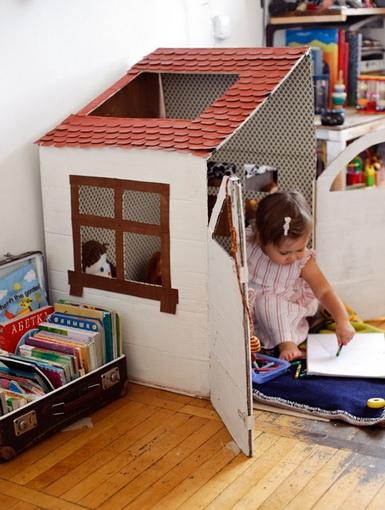 Домик для ребенка из картона своими руками в квартире 88