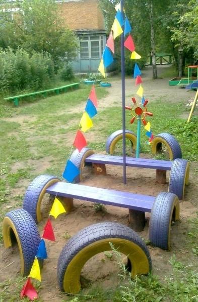 Идеи на детскую площадку своими руками фото