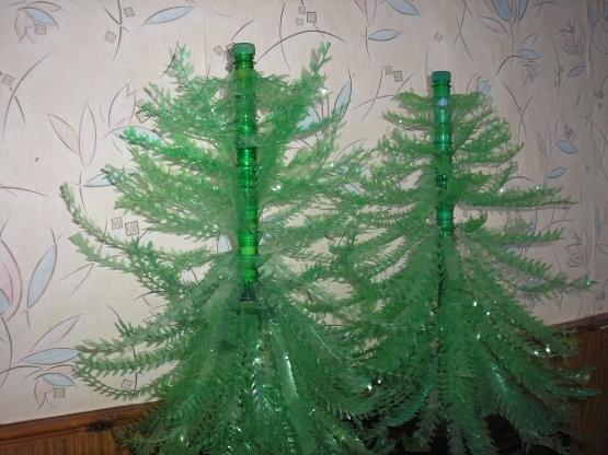 Как сделать елку из пластиковых бутылок пошаговая инструкция