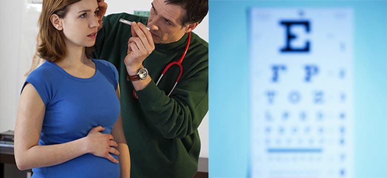 Как избежать появления проблем со зрением при беременности